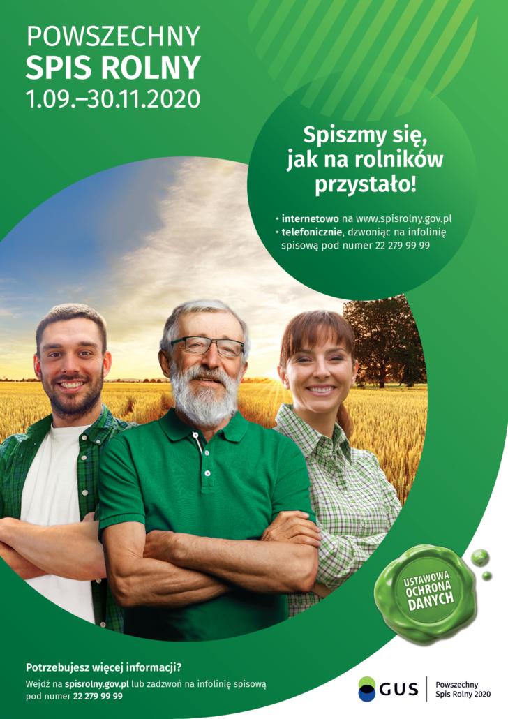 Spis rolny 2020 - plakat