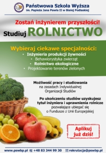 Plakat rolnictwo PSW