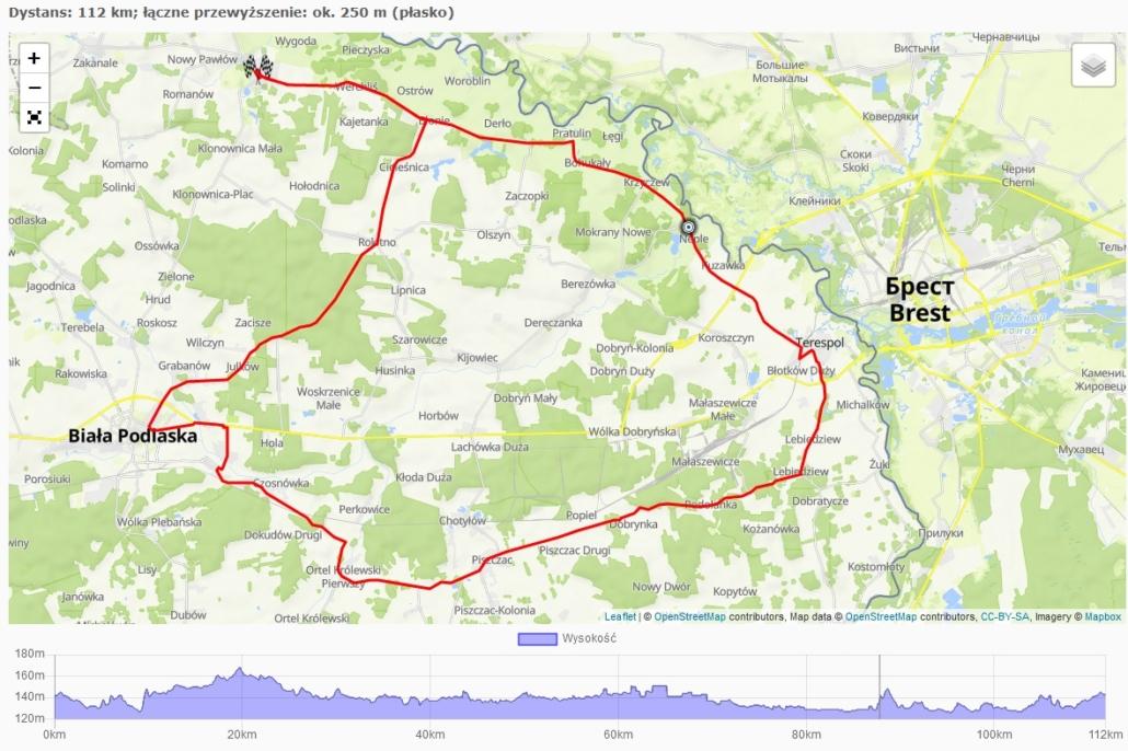 Mapa rowerem prze Polskę 2020