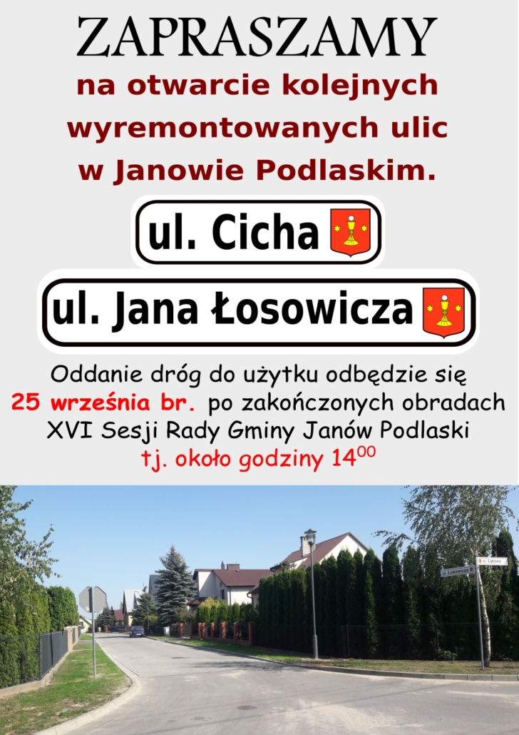 otwarcie ulic Jana Łosowicza i Cichej