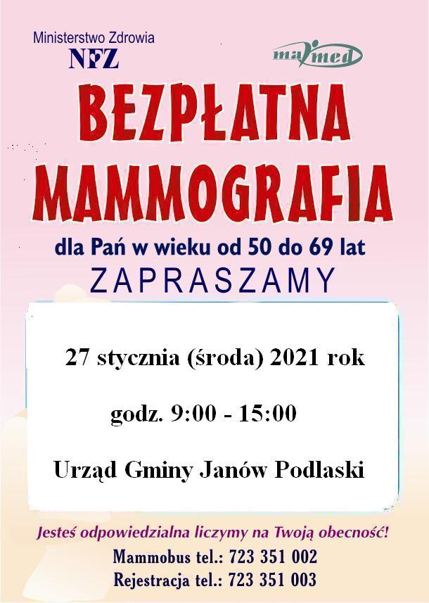 Badania mammograficzne