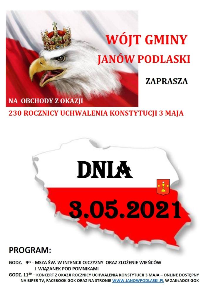 Obchody rocznicy uchwalenia Konstytuji 3 maja