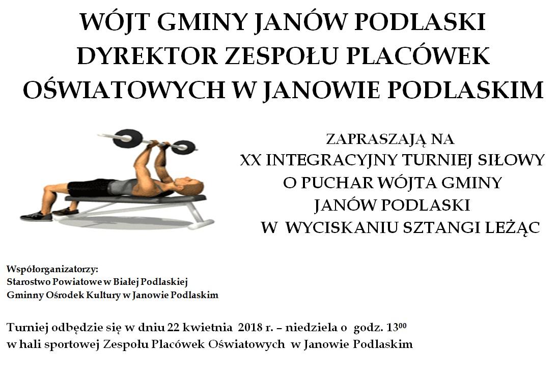 XX Integracyjny Turniej Siłowy w Janowie Podlaskim