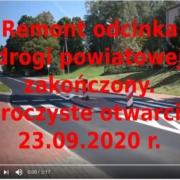 Remont pierwszego odcinka drogi powiatowej